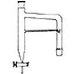Appareil de Dean stark - rodage 19/26 - robinet clé téflon Ø voie 2.5mm