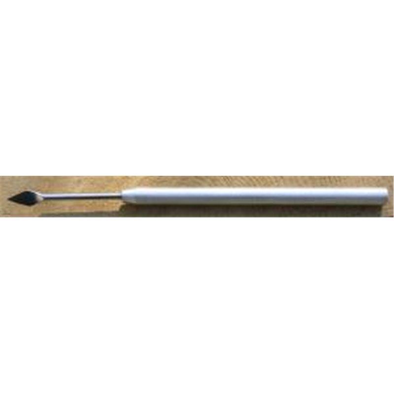 Aiguille lancéolé longueur 146mm manche métal