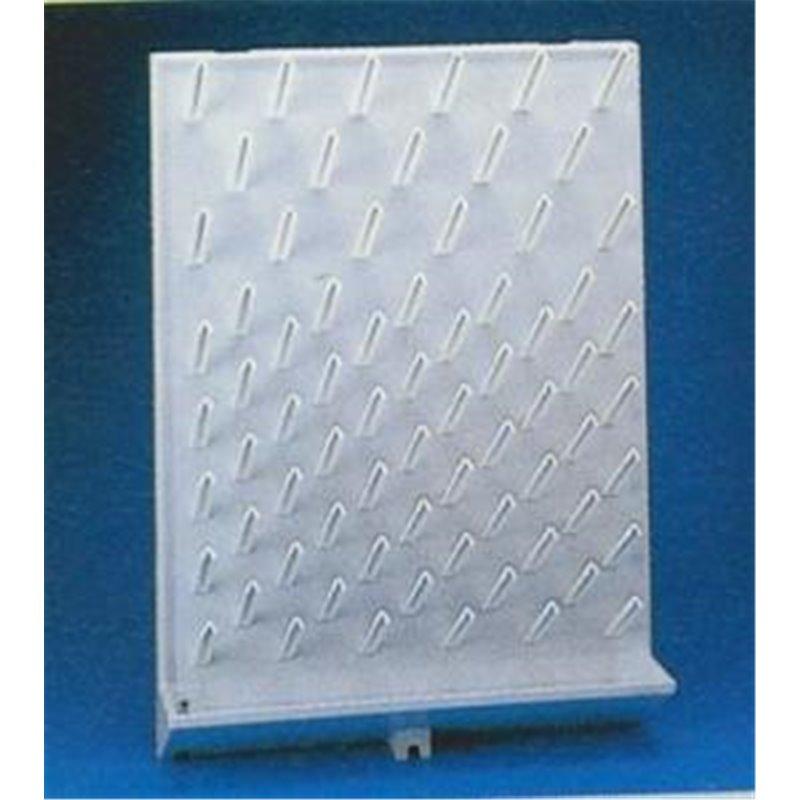 Égouttoir à vaiselle polystyrène anti-choc mural - 72 pics amovibles + gouttière