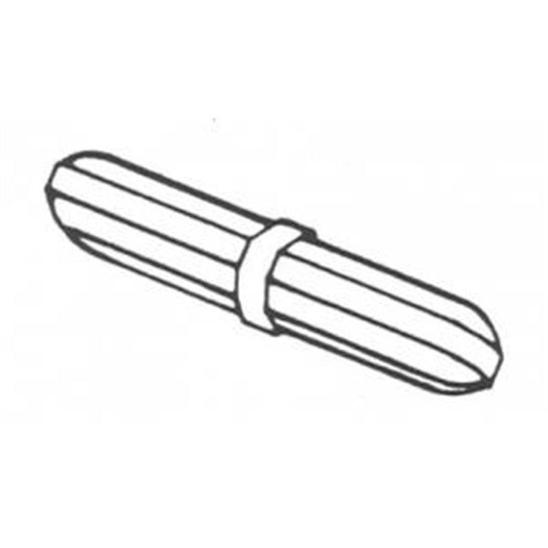 Barreau aimanté octogonal + épaulement - longueur 15mm x Ø 8mm