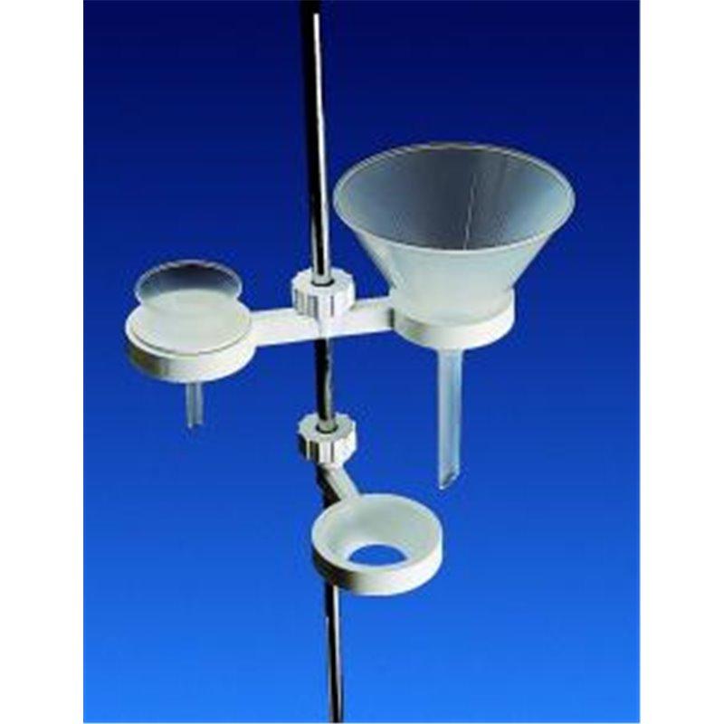 Support polypropylène pour 1 entonnoir - pavillon de Ø 50 à 120mm