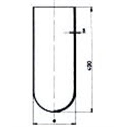 Cylindre fond rond Ø ext. 65mm / hauteur 400mm