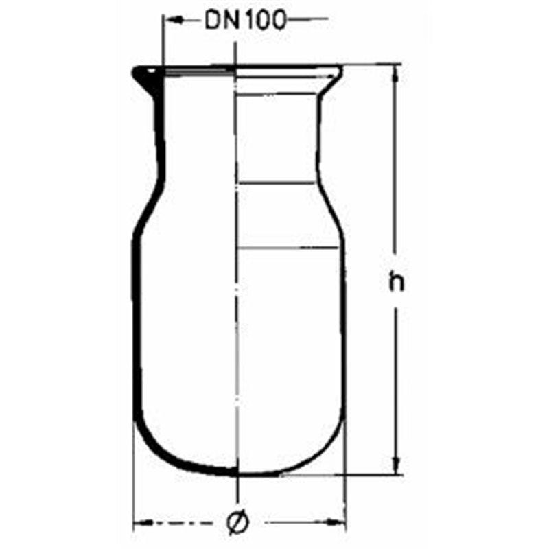 Corps brut dn 150 capacité 10 litres