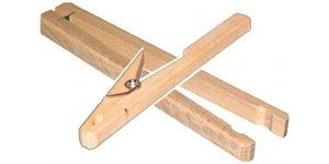 Pinces en bois pour tubes