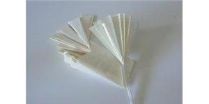 Papier filtre plissé entonnoir